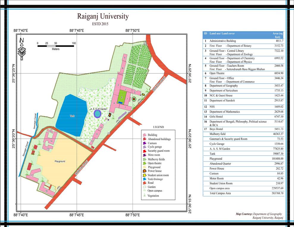 map of ncc campus Campus Map Raiganj University map of ncc campus